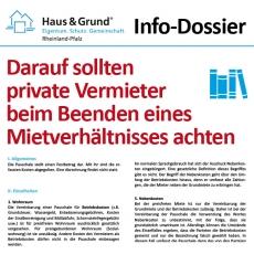 Info-Dossier: Darauf sollten private Vermieter beim Beenden eines Mietverhältnisses achten