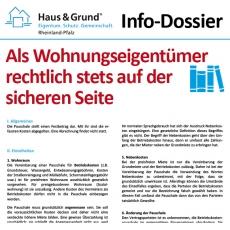 Info-Dossier: Als Wohnungseigentümer rechtlich stets auf der sicheren Seite