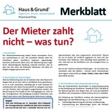 Merkblatt: Der Mieter zahlt nicht – was tun?