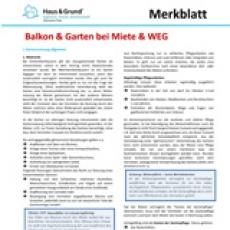 Merkblatt: Erhöhtes Haftungsrisiko im Mietrecht
