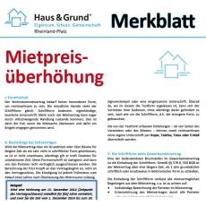 Merkblatt: Mietpreisüberhöhung