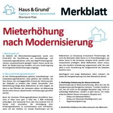 Merkblatt: Mieterhöhung nach Modernisierung