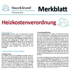 Merkblatt: Heizkostenverordnung