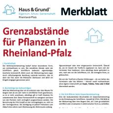 Merkblatt: Grenzabstände für Pflanzen in Rheinland-Pfalz
