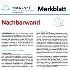 Merkblatt: Nachbarwand auf der Grundstücksgrenze