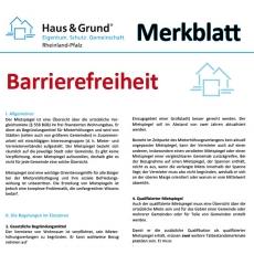 Merkblatt: Barrierefreier Umbau