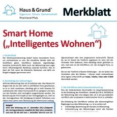 "Merkblatt: Smart Home (""Intelligentes Wohnen"")"