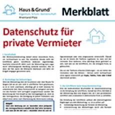 Merkblatt: Datenschutz für private Vermieter