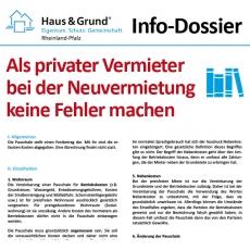 Info-Dossier: Als privater Vermieter bei der Neuvermietung keine Fehler machen