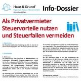 Info-Dossier: Als Eigentümer und Vermieter Steuervorteile nutzen und Steuerfallen vermeiden