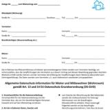 Kostenloser Bonus-Artikel: Datenschutzinformation/-erklärung für Vermieter