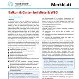 Merkblatt: Balkon & Garten bei Miete & WEG