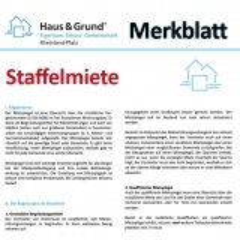 Merkblatt: Staffelmiete