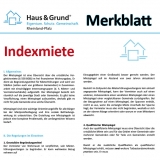 Merkblatt: Indexmiete