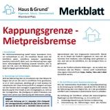 Merkblatt: Kappungsgrenze - Mietpreisbremse