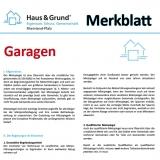Merkblatt: Vermietung von Garagen