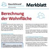 Merkblatt: Berechnung der Wohnfläche