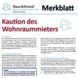 Merkblatt: Kaution bei Wohnraumvermietung
