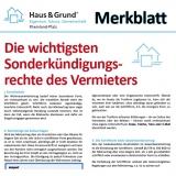 Merkblatt: Die wichtigsten Sonderkündigungsrechte des Vermieters
