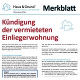 Merkblatt: Kündigung der vermieteten Einliegerwohung
