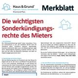 Merkblatt: Die wichtigsten Sonderkündigungsrechte des Mieters