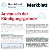 Merkblatt: Austausch der Kündigungsgründe