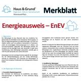 Merkblatt: Energie-Ausweis - EnEV