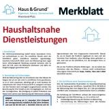 Merkblatt: Steuerbonus für haushaltsnahe Dienstleistungen und Handwerkerleistungen
