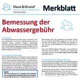 Merkblatt: Abrechnung der Abwassergebühr