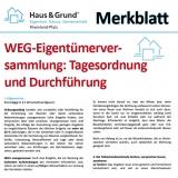 Merkblatt: WEG-Eigentümerversammlung: Tagesordnung und Durchführung