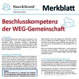 Merkblatt: Beschlusskompetenz der WEG-Gemeinschaft