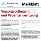 Merkblatt: Vorsorgevollmacht und Patientenverfügung
