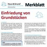 Merkblatt: Einfriedung von Grundstücken