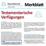 Merkblatt: Testamentarische Verfügungen