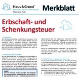 Merkblatt: Erbschaft- und Schenkungsteuer